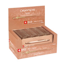 Caran D'Ache 849.097 Brut Rosé ballpoint pen display box