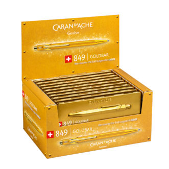 Caran D'Ache 849.999 Gold Bar 849 ballpoint pen