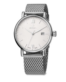 SWIZA watch, Alza Gent, white with mesh strap
