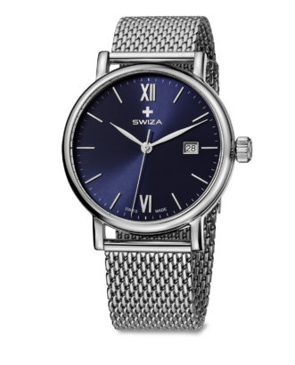 SWIZA Alza Gent watch black and mesh strap