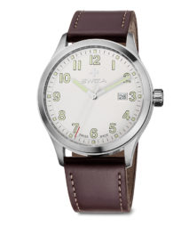 SWIZA watch, Kretos Gent brown leather strap