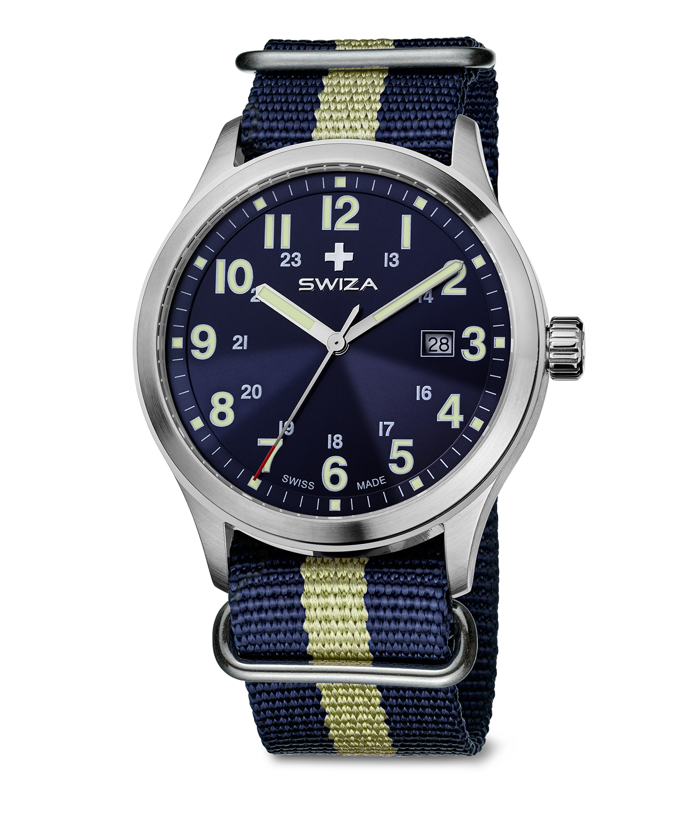 SWIZA watch, Kretos Gent blue canvas strap