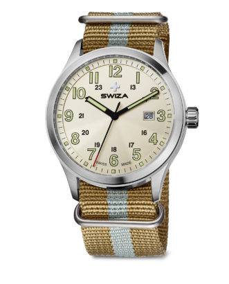 SWIZA watch, Kretos silver sand