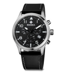 SWIZA watch Siriuz chrono black with black strap