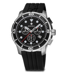 SWIZA watch, Tetis Chrono black
