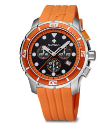 SWIZA watch, Tetis Chrono orange