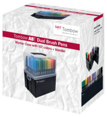 Tombow ABT brush pen set of 108 in carry case