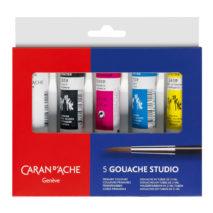Caran D'Ache gouache tube set of 5 x 21ml
