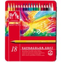Caran D'Ache Supracolor Soft colour pencils set of 18