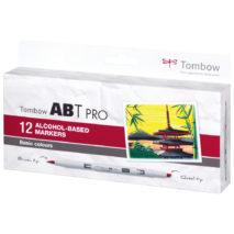 Tombow ABT PRO set of 12 pens BASIC COLOURS