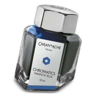 Caran D'Ache ink bottle 8011.149 Magnetic Blue